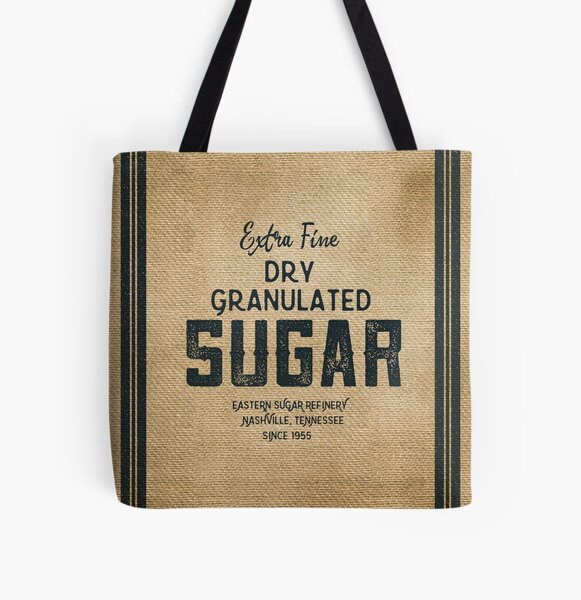 Vintage Style Sugar Sack All Over Print Tote Bag