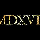 MDXVII 1517 Luther Year (Ancient Gold) by theshirtshops
