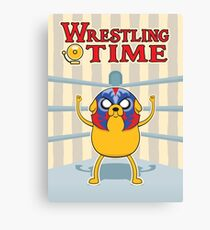 Wrestling Time Canvas Print