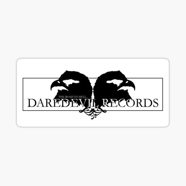 DAREDEVIL RECORDS Logo Sticker