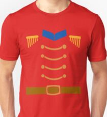 Nutcracker Costume Funny Christmas Toy Soldier Uniform T-Shirt