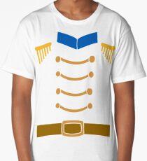Nutcracker Costume Funny Christmas Toy Soldier Uniform Long T-Shirt