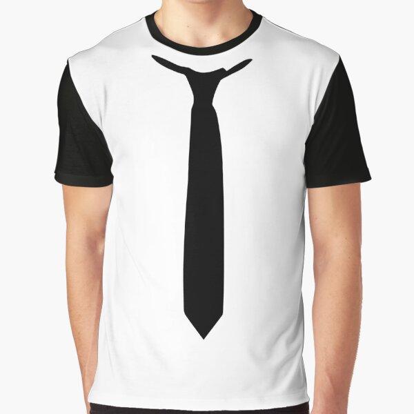 Black Tie Necktie Formal Office Prom Receptions Gift Graphic T-Shirt