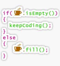 Coffee - coding syntax Sticker