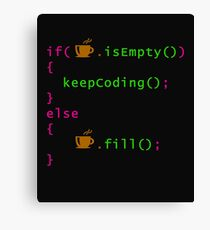 Coffee - coding syntax Canvas Print