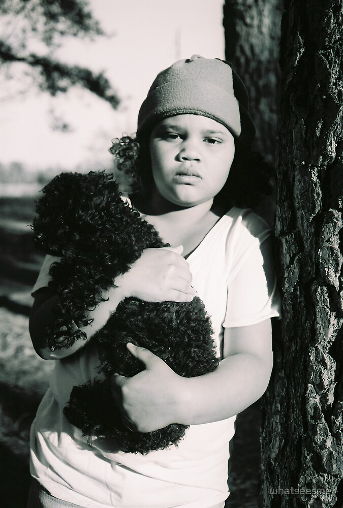 little girl with dog by whatseesme