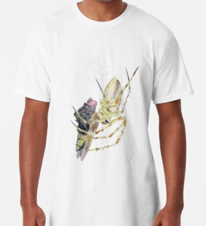 Spider caught a fly Long T-Shirt