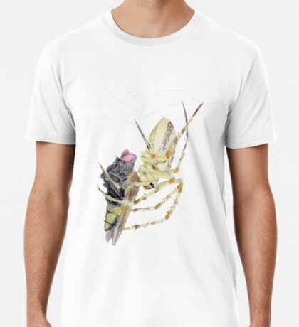 Spider caught a fly Premium T-Shirt