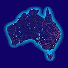 Australia by night by David Fraser