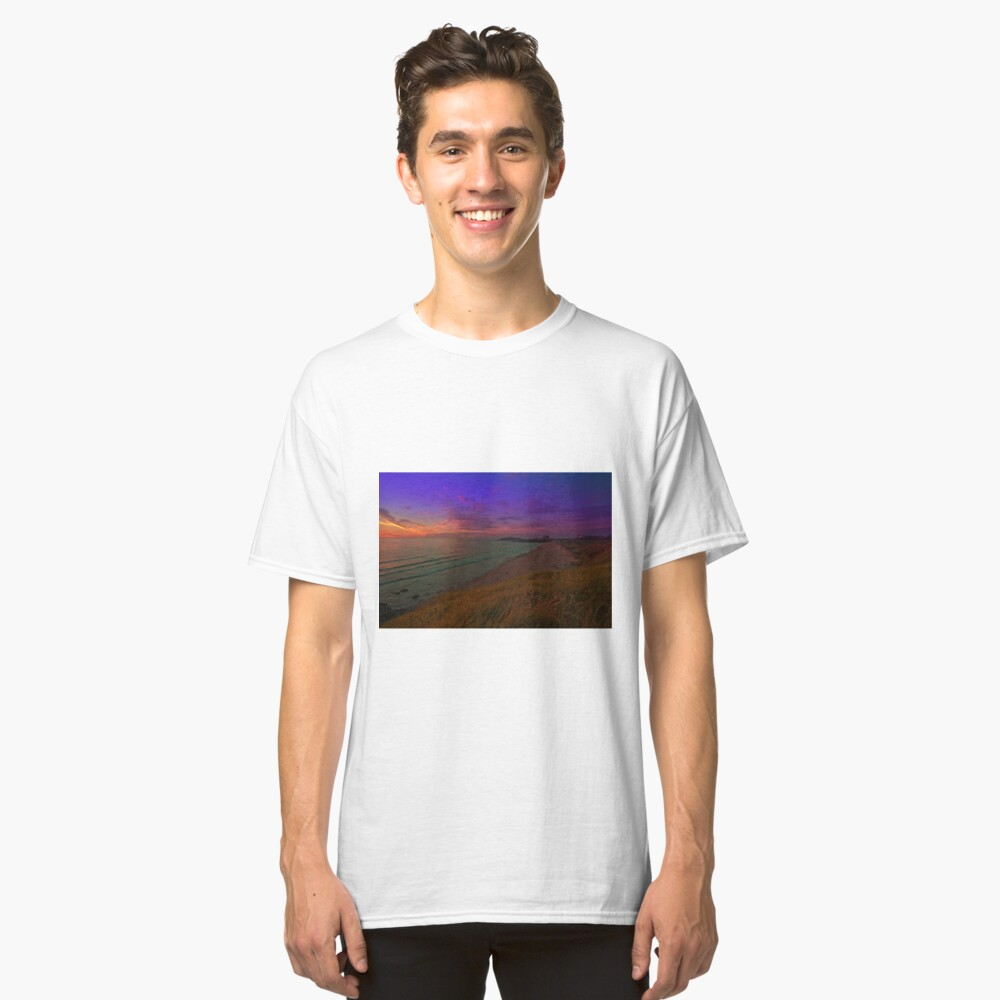 Newquay, Fistral Beach, Strand Sonnenuntergang Classic T-Shirt