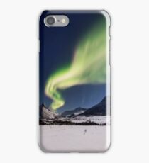 White plains under the Northern Lights iPhone Case/Skin