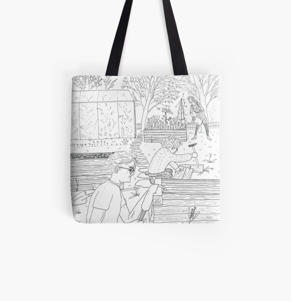 beegarden.works 005 All Over Print Tote Bag
