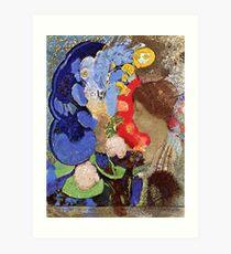Vintage Odilon Redon Woman with Flowers 1903 Fine Art Art Print
