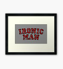 IRONIC MAN (Vintage/Red) Framed Print