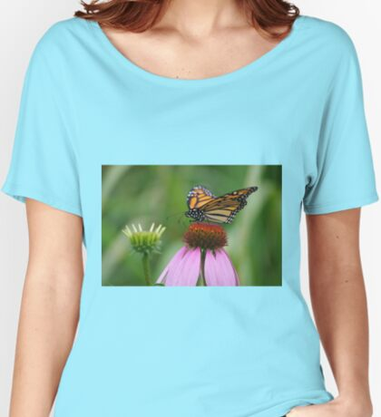 softly landing on an echinacea flower Women's Relaxed Fit T-Shirt
