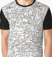 Wall of Animals Graphic T-Shirt