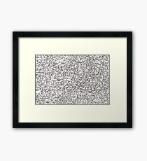 Wall of Animals Framed Print