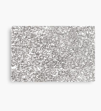 Wall of Animals Metal Print