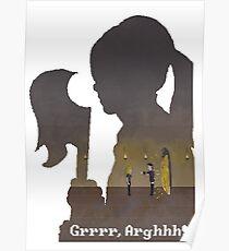 Pixel Buffy kills Angel Poster