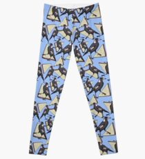 Magpies and Fairy Bread - Blue Leggings