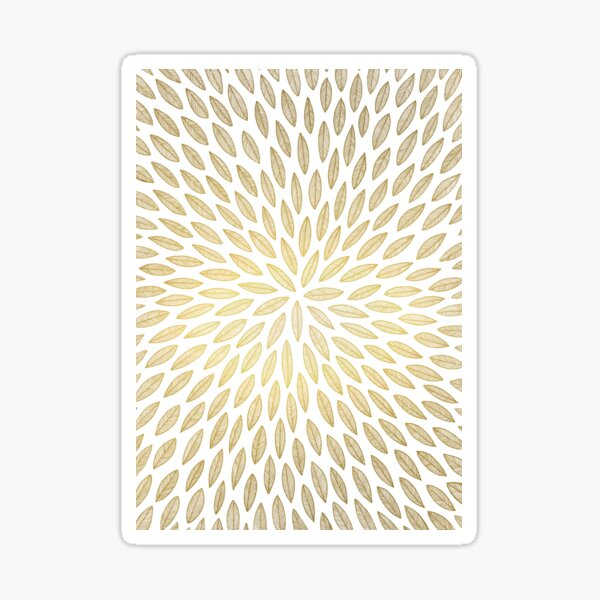 Just gold leaves Sticker