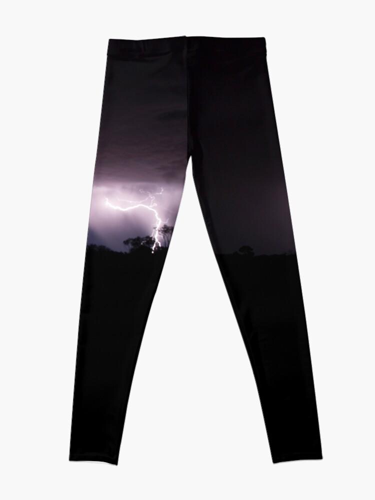 Alternate view of Desert Lightning, outback Australia. Leggings