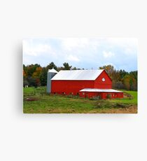 Rural Fall In Vermont Canvas Print