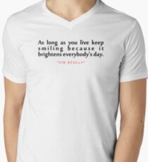 """As long as...""""Vin Scully"""" Inspirational Quote Men's V-Neck T-Shirt"""