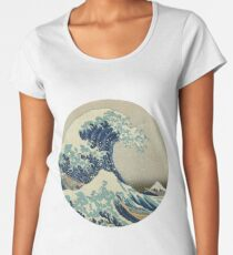The Great Wave off Kanagawa Women's Premium T-Shirt