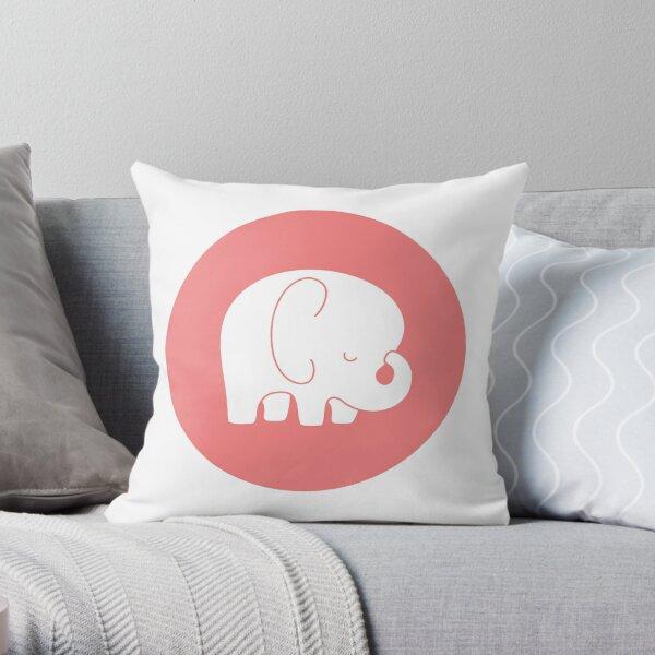 mod baby elephant Throw Pillow