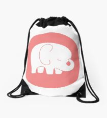 mod baby elephant Drawstring Bag