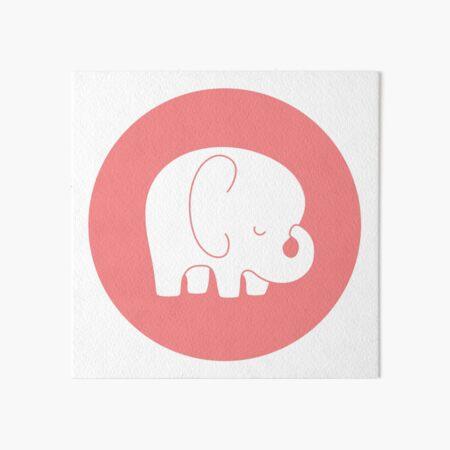 mod baby elephant Art Board Print