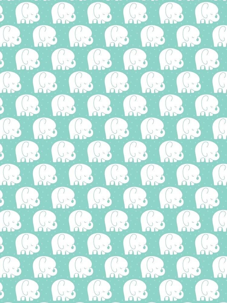 mod baby elephants mint by MissTiina