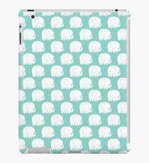mod baby elephants mint iPad Case/Skin