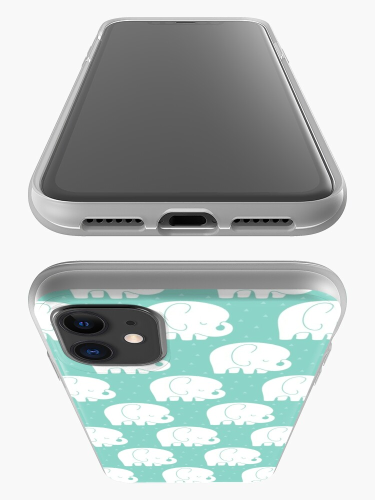 Alternate view of mod baby elephants mint iPhone Case & Cover