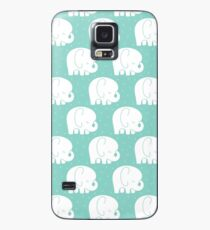 mod baby elephants mint Case/Skin for Samsung Galaxy