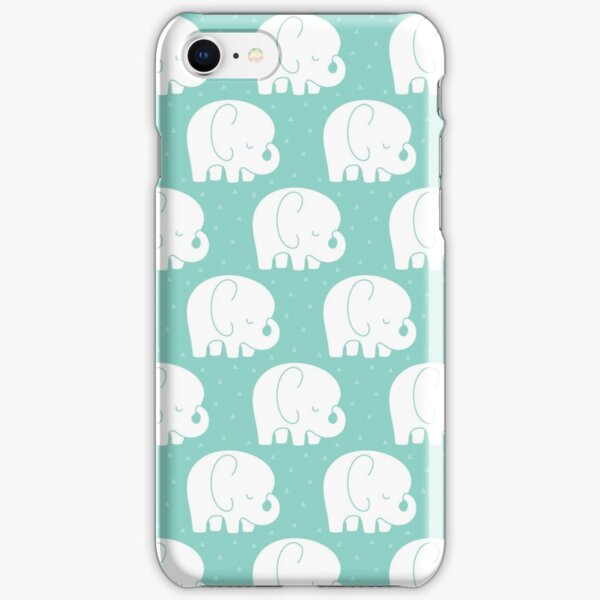 mod baby elephants mint iPhone Snap Case