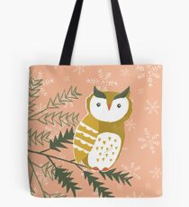 Winter Woodland Owl by Katy Bloss Tote Bag