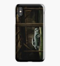 Jaguar XK 120 in the shed iPhone Case/Skin