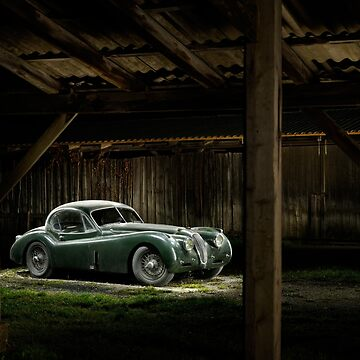 Jaguar XK 120 in the shed by FrankKletschkus