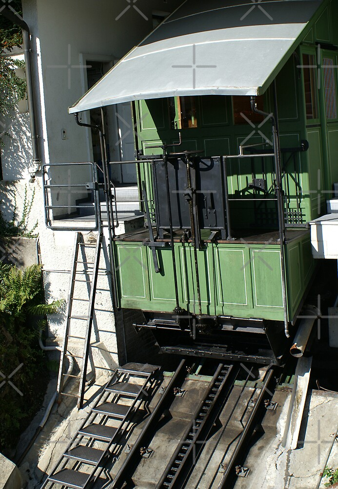 """cable car using """"used water"""" by poupoune"""