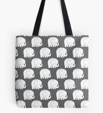 mod baby elephants grey Tote Bag