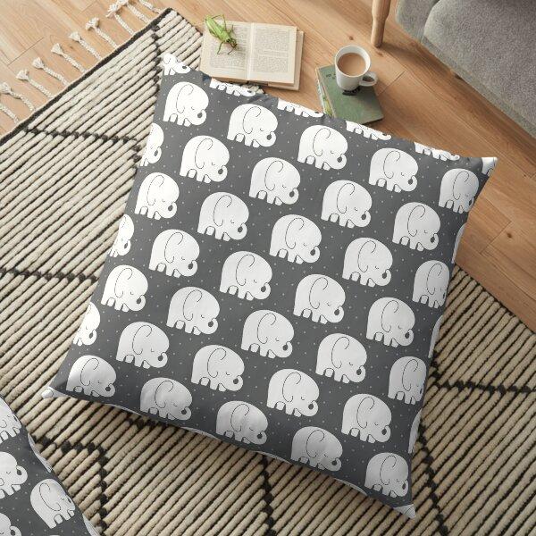 mod baby elephants grey Floor Pillow