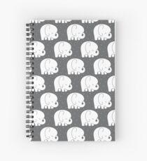 mod baby elephants grey Spiral Notebook