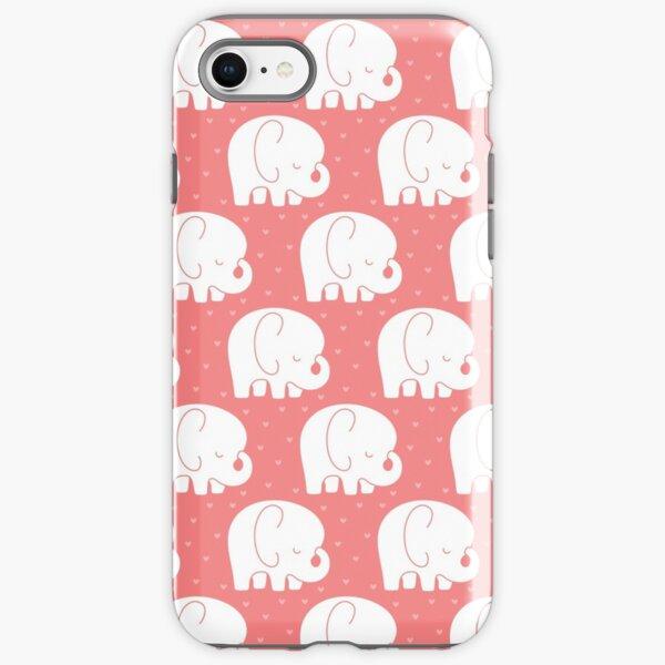 mod baby elephants coral iPhone Tough Case