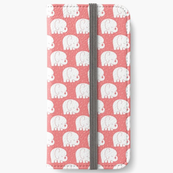 mod baby elephants coral iPhone Wallet