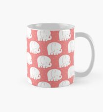 mod baby elephants coral Mug