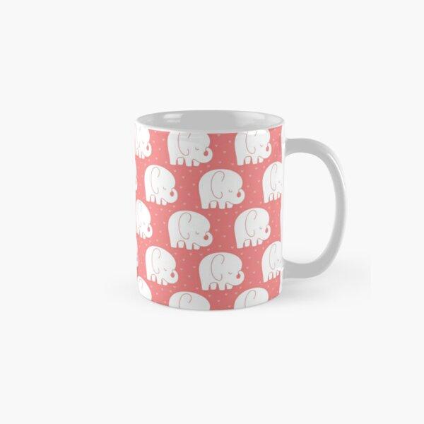 mod baby elephants coral Classic Mug