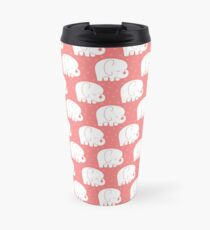 mod baby elephants coral Travel Mug