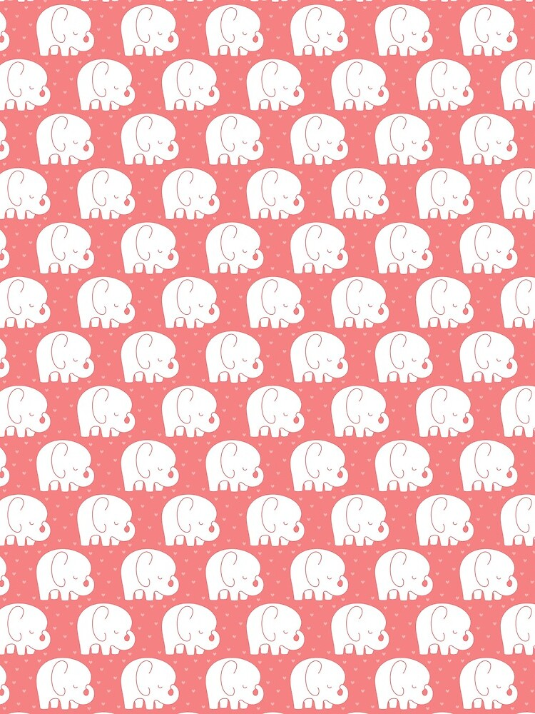 mod baby elephants coral by MissTiina